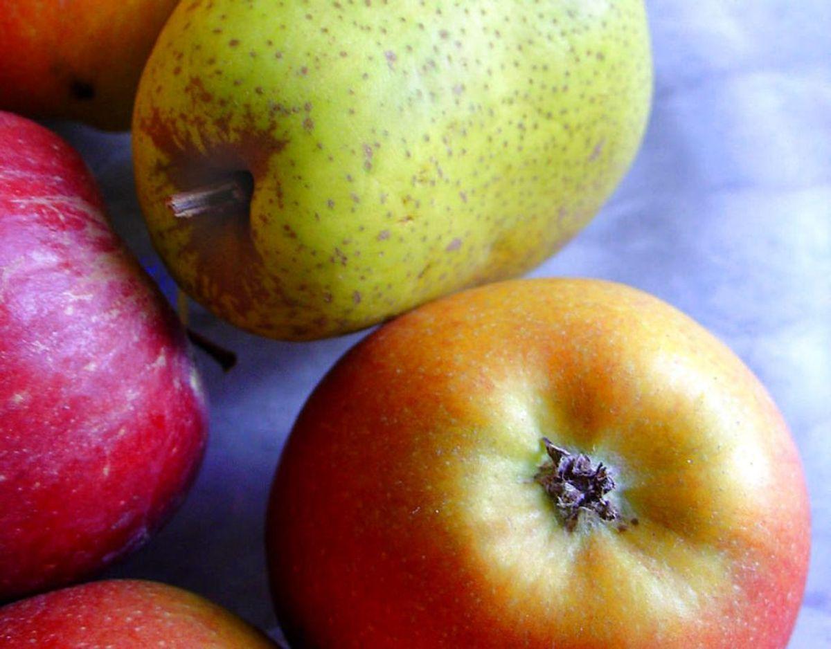 Æbler og pærer er ligeledes hårde for tarmen, derfor kan man opleve ekstra meget luft i maven efter at have spist dem. Kilde: TV 2 Foto: Scanpix