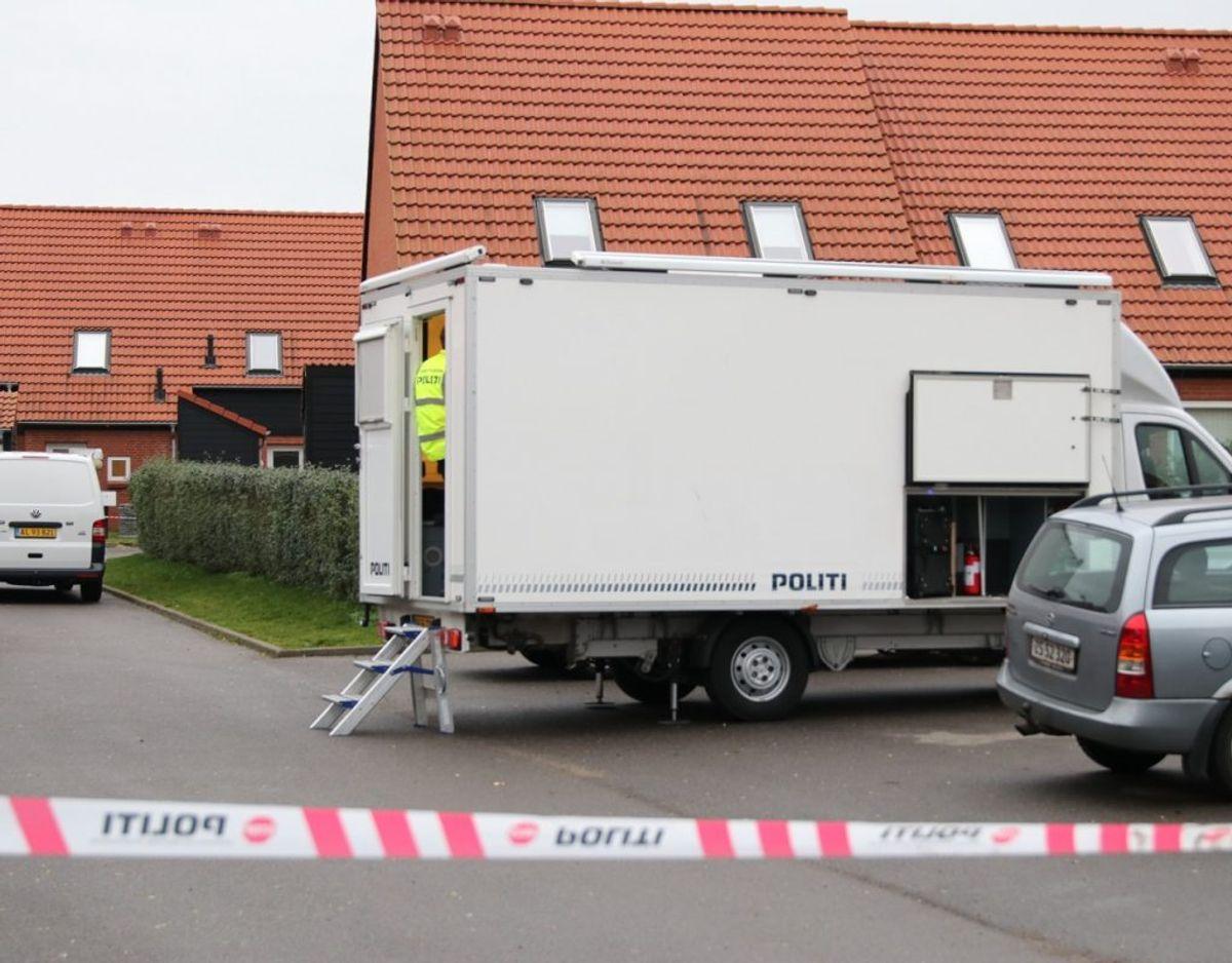 En 39-årig mand, som er mistænkt i sagen, er anholdt. Foto: Presse-fotos.dk.