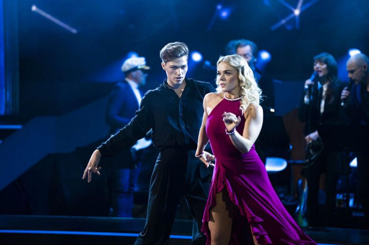 sendxnet model Oscar Bjerrehuus og Asta Björk. Vild med dans program 9, sæson 16 på TV2, fredag den 8. november 2019. (foto: Martin Sylvest/Ritzau Scanpix 2019)