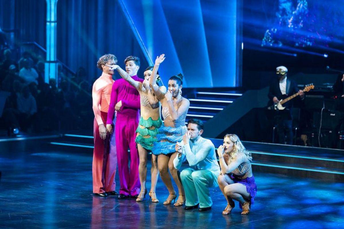 sendxnet Holdans B: Den lille havfrue. Vild med dans program 9, sæson 16 på TV2, fredag den 8. november 2019. (foto: Martin Sylvest/Ritzau Scanpix 2019)