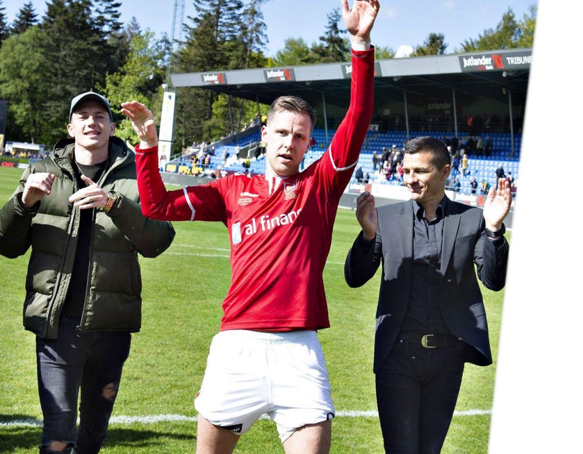 Kjartan Finnbogason er med 11 mål indtil videre topscorer i 1. Division. Foto: Scanpix