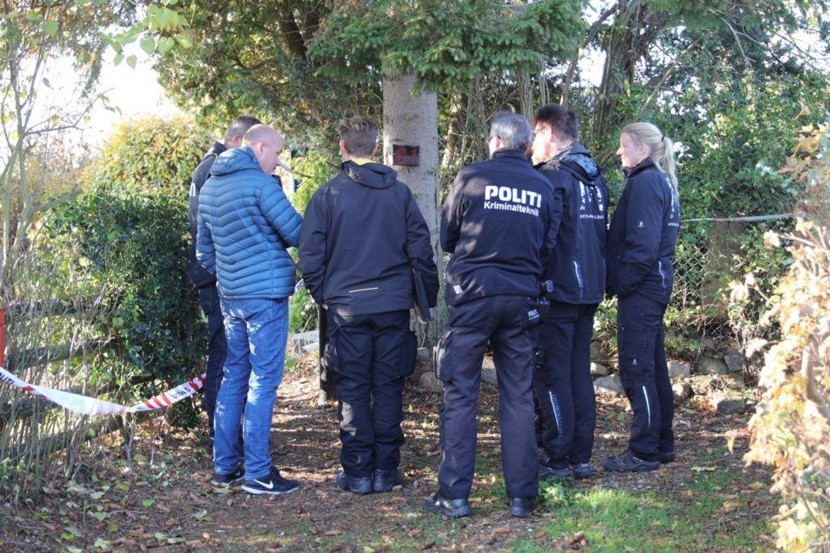 Politiet har på to adresser fundet så mange dele, at liget mestendels er intakt, oplyste efterforskningslederen til Newsbreak.dk. Foto: Presse-fotos.dk