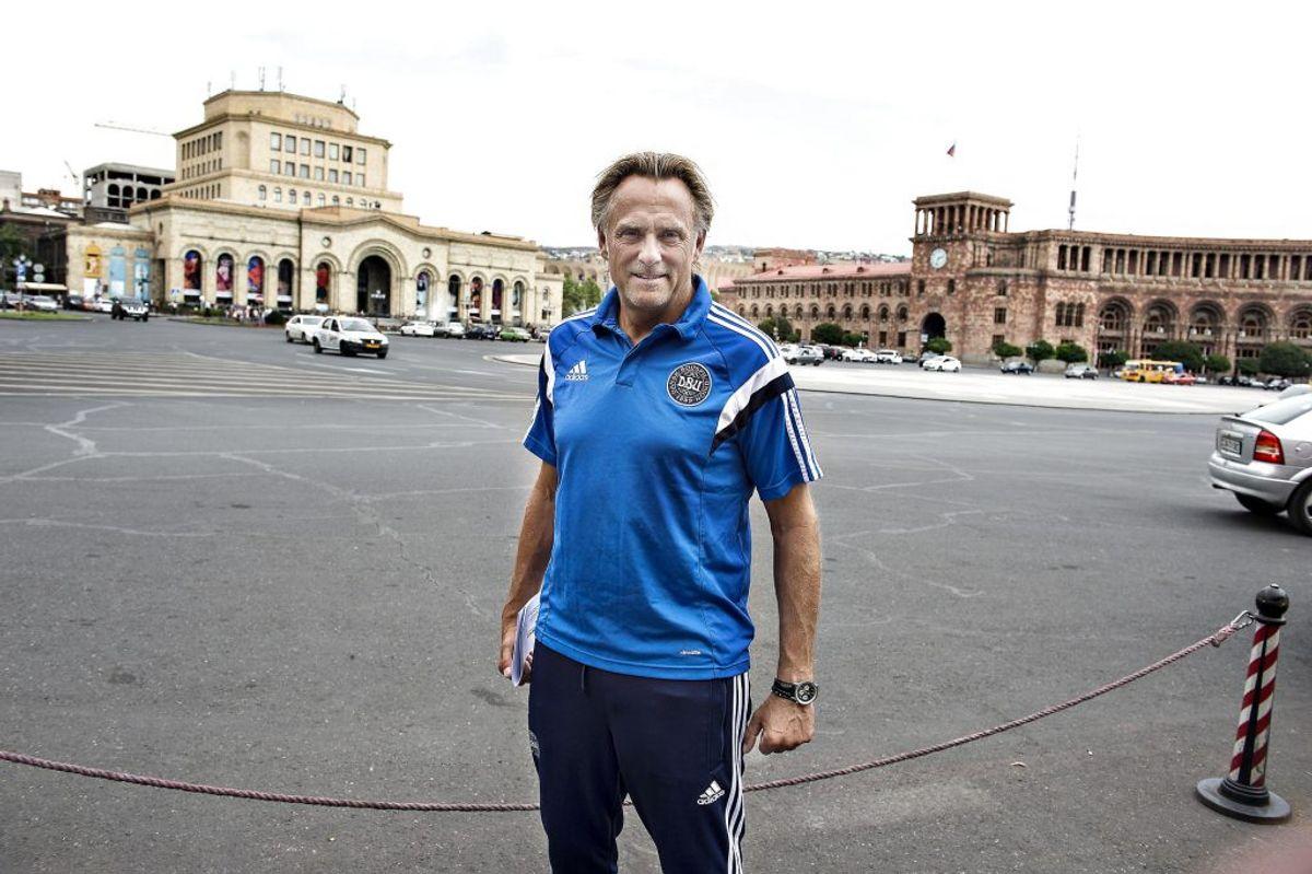 Målmandstræner Lars Høgh har fået tilbagefald. (Foto: Henning Bagger/Scanpix 2015)