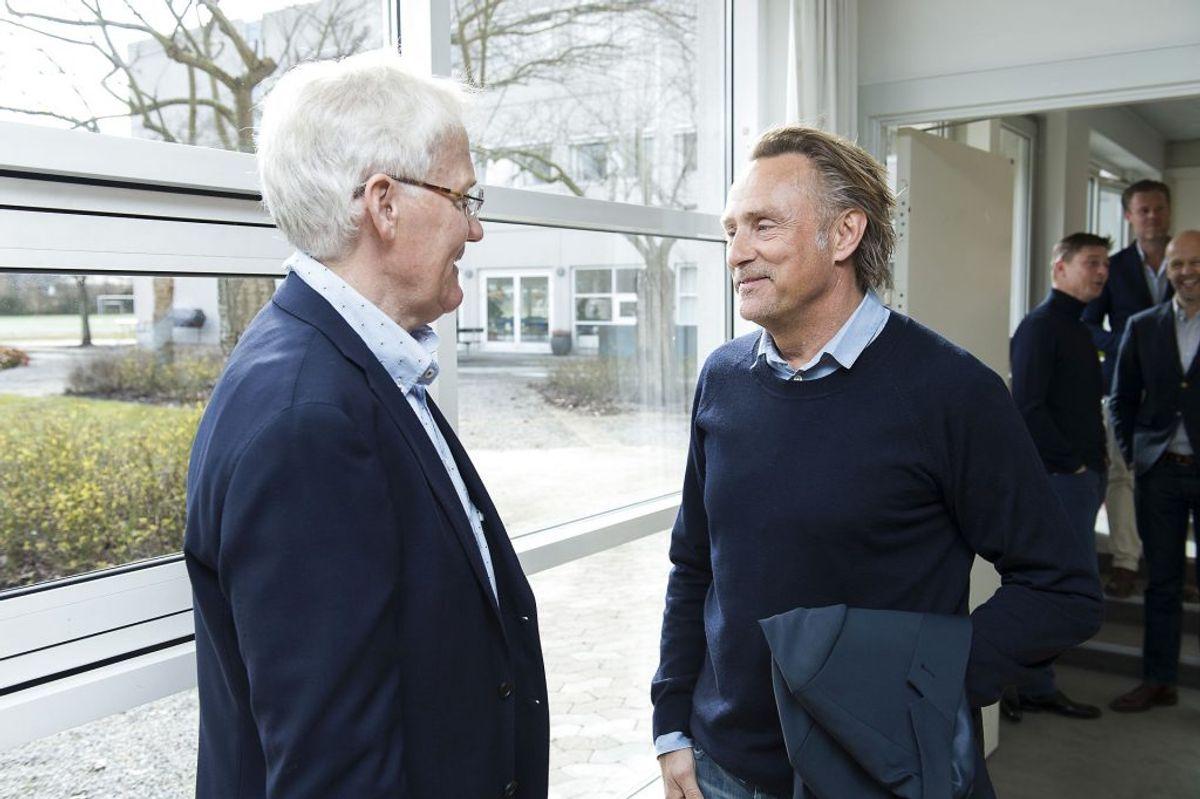 Morten Olsen og Lars Høgh. Foto: Claus Bech/Scanpix.
