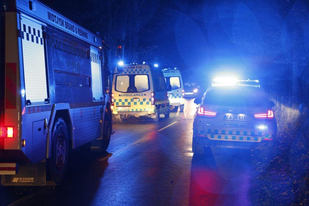 Manden påkørte et træ. KLIK FOR FLERE BILLEDER. Foto: Presse-fotos.dk