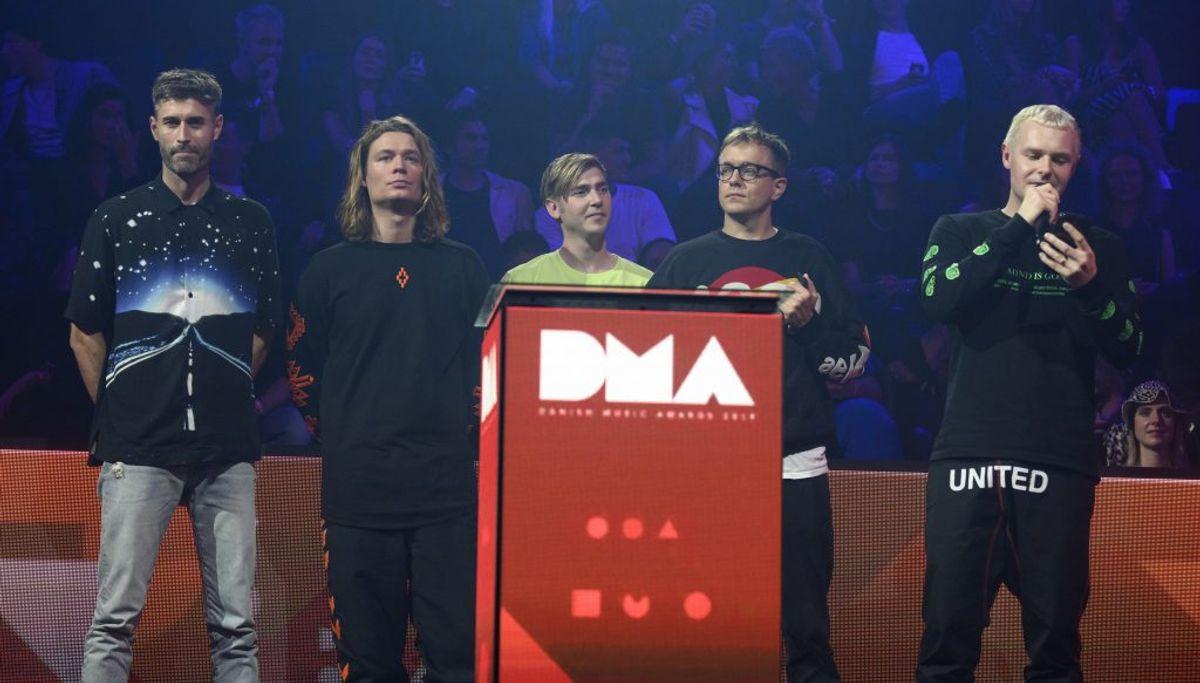 """The Minds of 99 vandt Årets Danske Album for """"Solkongen"""". Bandet vandt desuden prisen som Årets Danske Rocknavn (Foto: Torben Christensen/Ritzau Scanpix)"""