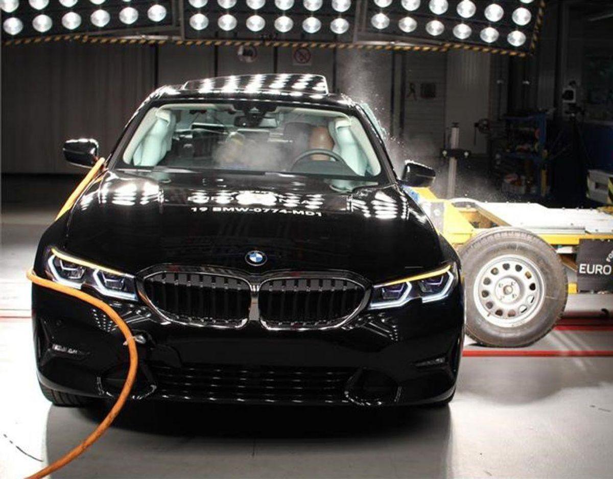 BMW 3-serie: 5 Euro NCAP-stjerner. Foto: FDM.