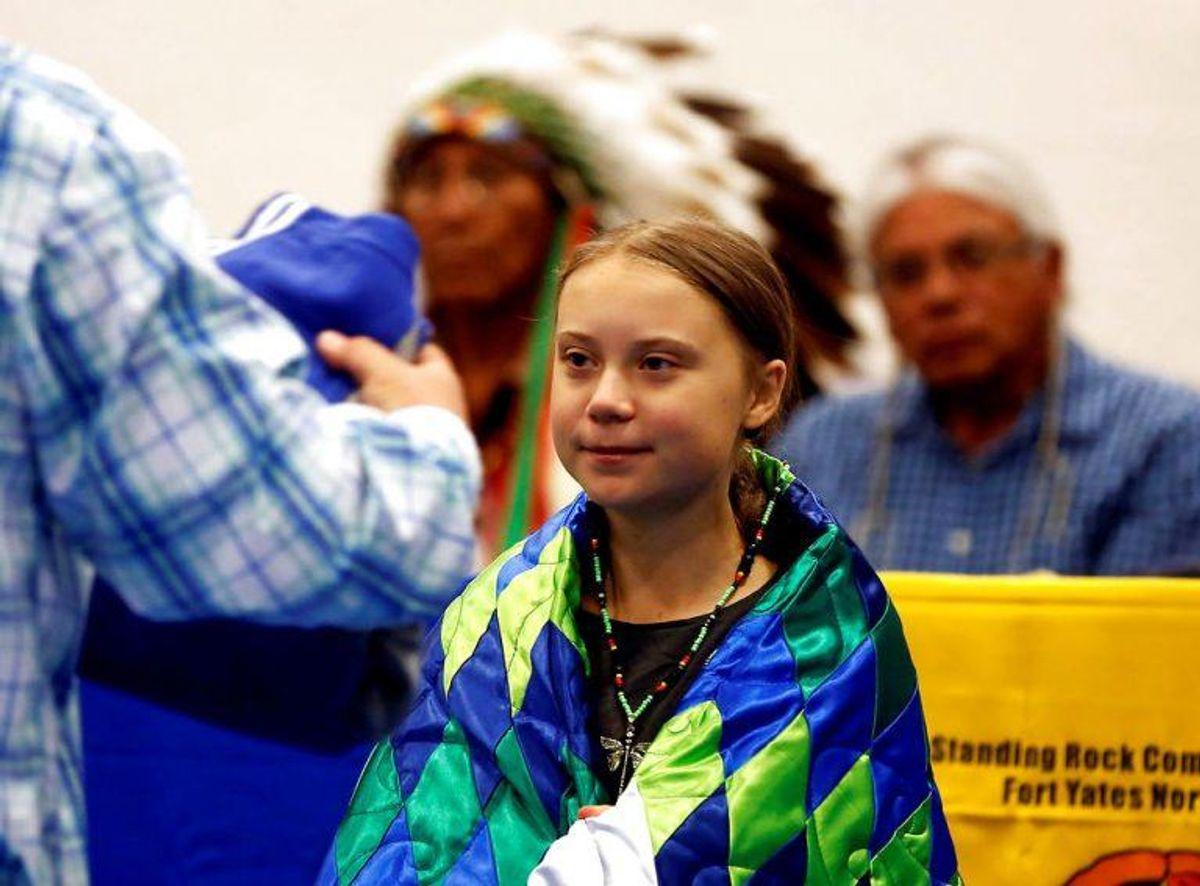 Klimaaktivisten Greta Thunberg var blevet udråbt som storfavorit til at vinde prisen. KLIK FOR MERE. Foto: Scanpix
