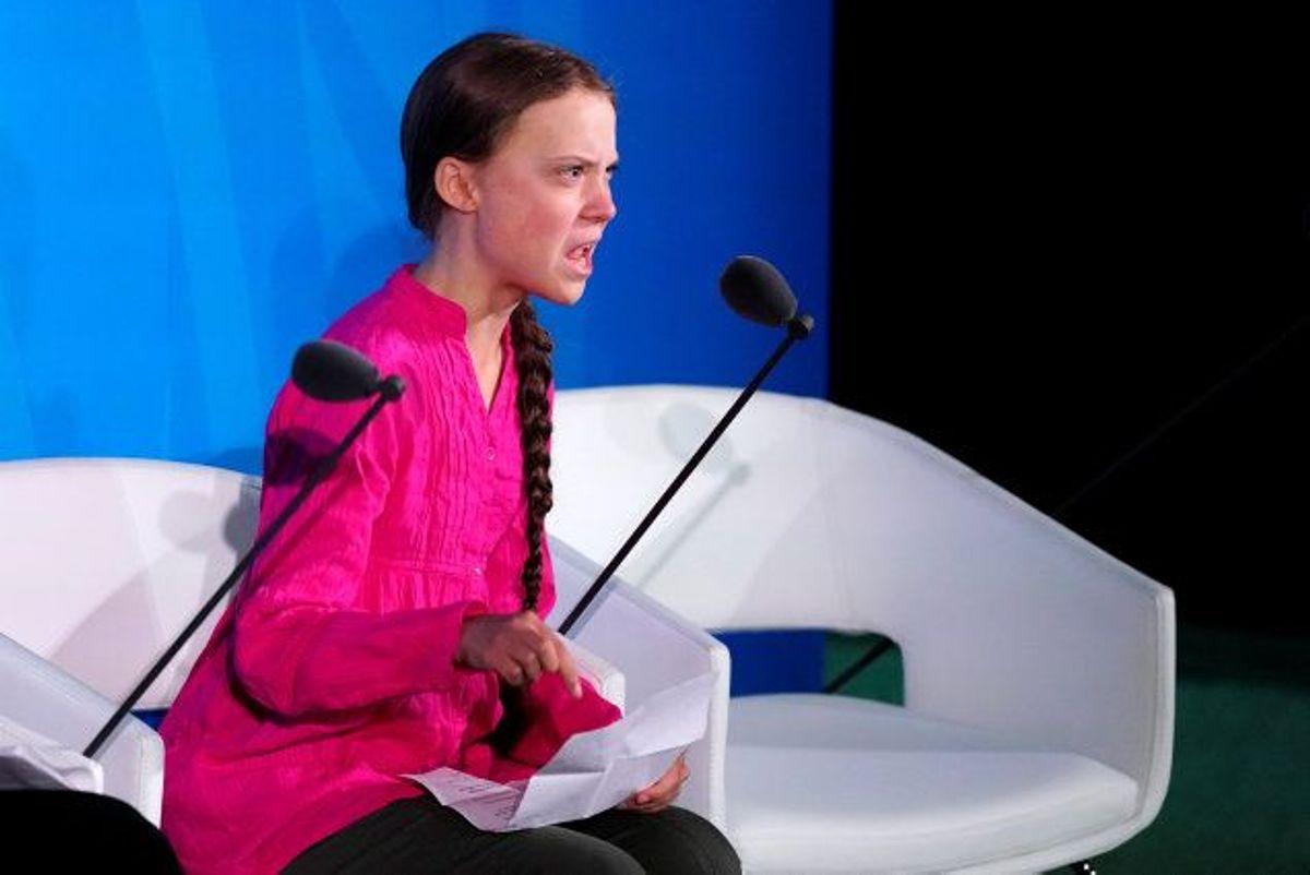 16-årige Greta Thunberg holdt en følelsesladet tale ved åbningen af FN's klimatopmøde i New York den 23. september. (Arkivfoto) Foto: Carlo Allegri/Reuters
