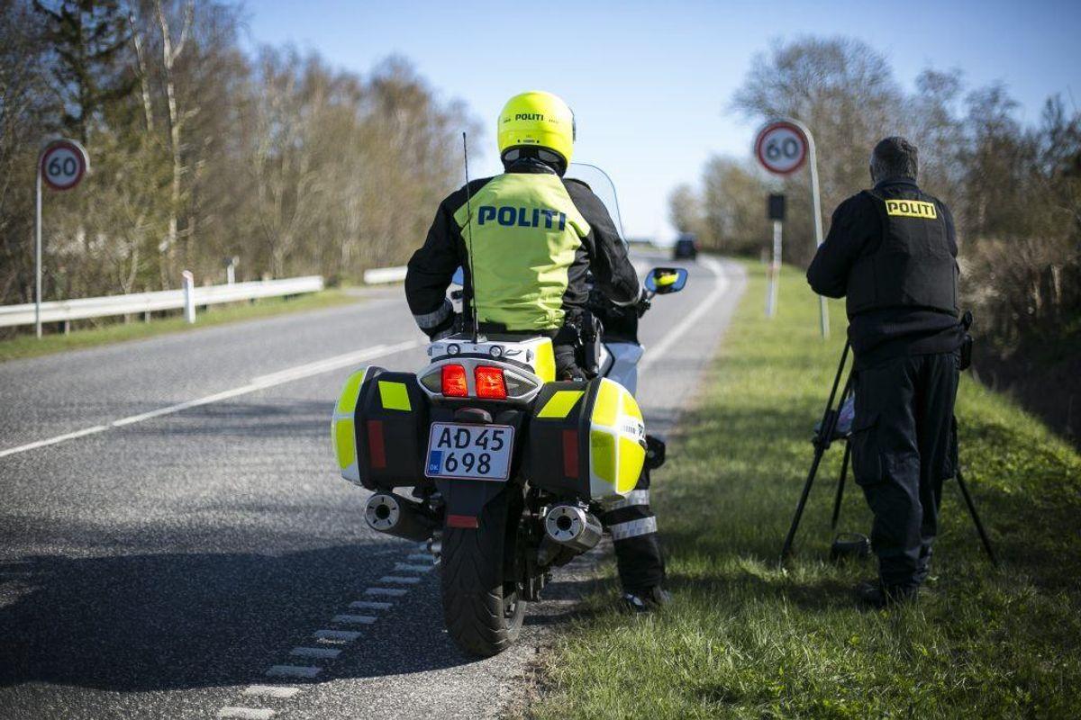 Politiet har netop gennemført en målrettet kontrol. Og fik mange i nettet. KLIK for mere info. Foto: Rådet for sikker Trafik.
