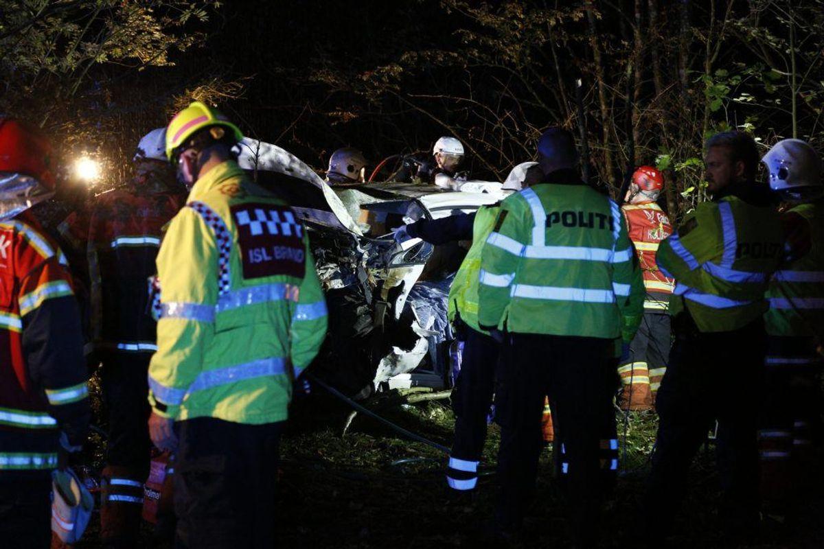 Politi, ambulance og redning er massivt til stede. KLIK VIDERE FOR FLERE BILLEDER. Foto: Presse-fotos.dk