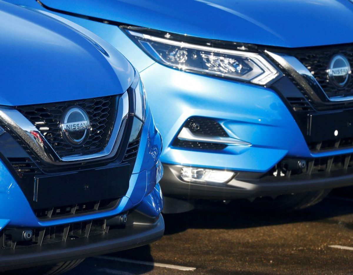 FILE PHOTO: Qashqai cars by Nissan are seen parked at the Nissan car plant in Sunderland, Britain February 4, 2019. REUTERS/Phil Noble/File Photo