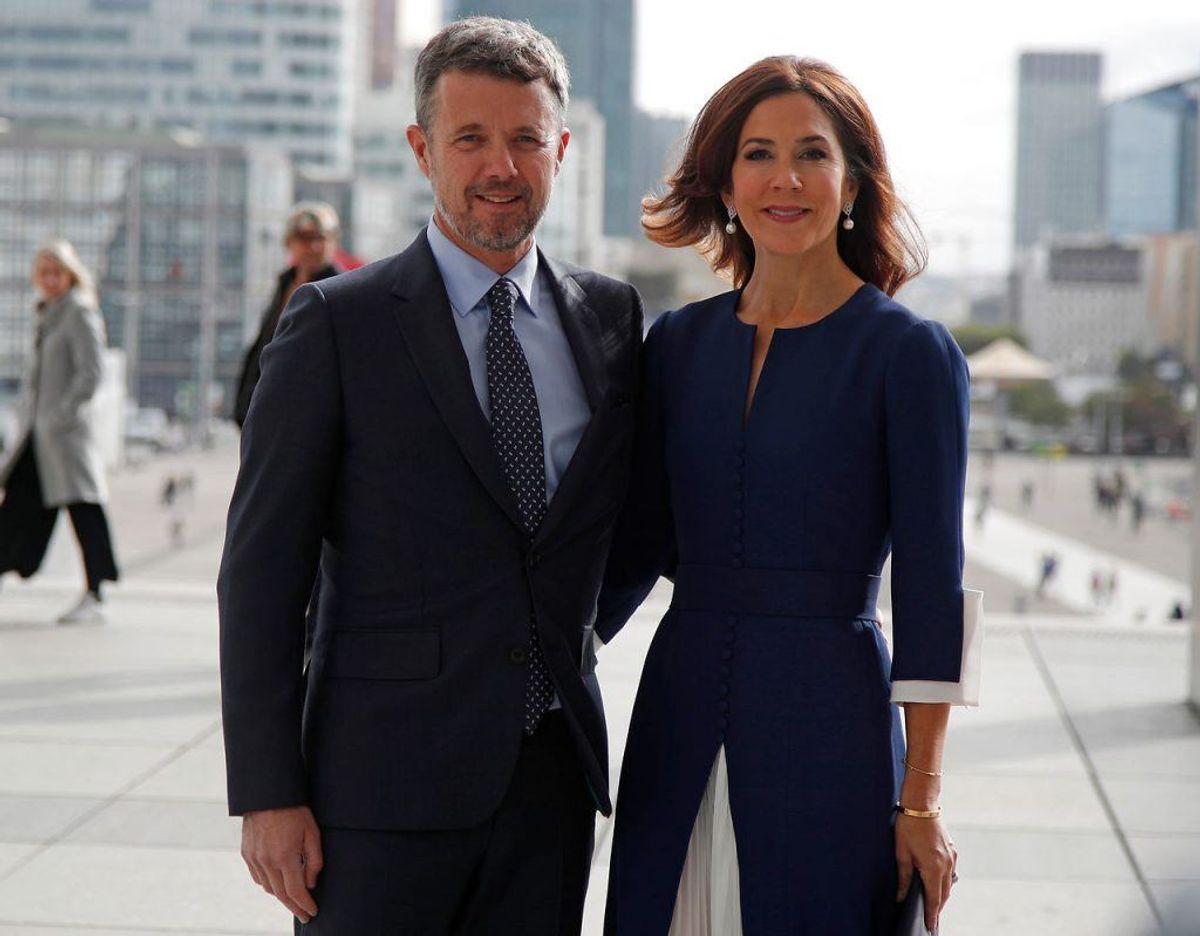 Kronprinsparret står i de kommende dage i spidsen for et dansk erhvervsfremstød i den franske hovedstad. Med dem følger 50 danske virksomheder og erhvervsorganisationer. Klik videre for flere billeder. Foto: Scanpix/REUTERS/Charles Platiau