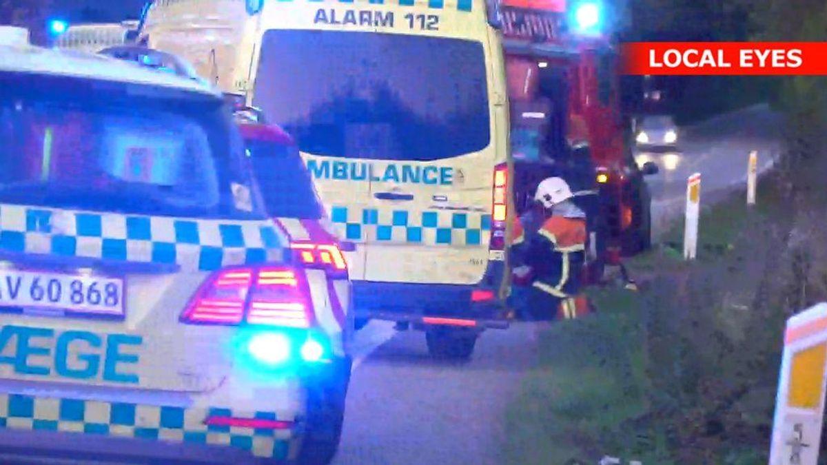En 27-årig mand er omkommet i ulykken. KLIK FOR FLERE BILLEDER. Foto: LocalEyes.dk