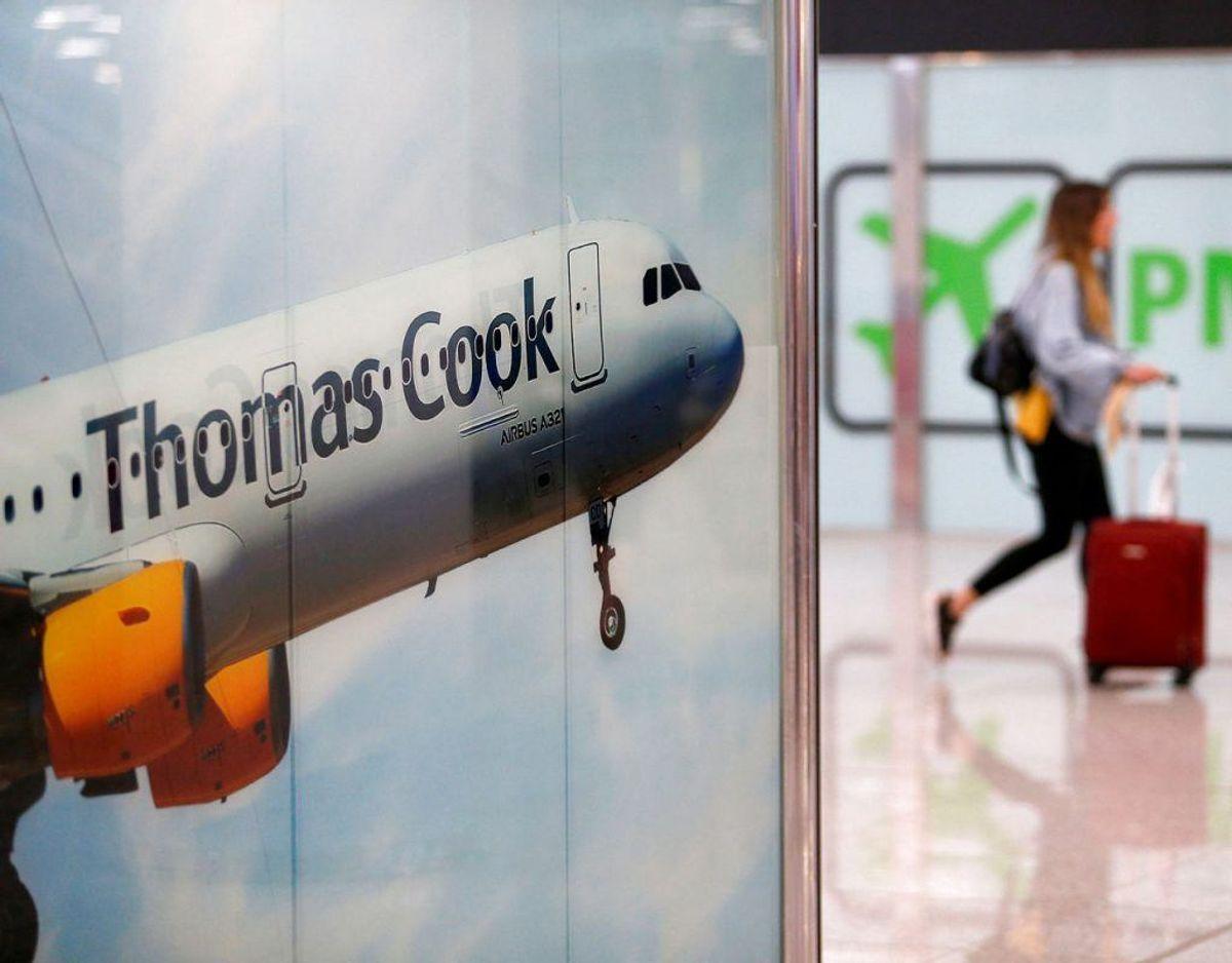 De mange rejsende med Thomas Cook, heriblandt omtrent 1400 danske passagerer fra Spies, der er berørt af selskabets konkurs. Klik videre og se, hvordan du er stillet, hvis et rejseselskab går konkurs. Foto: Scanpix