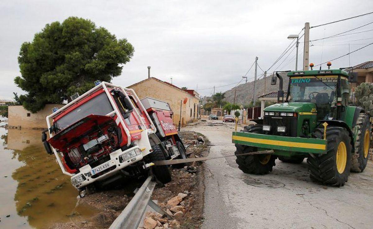 Uvejret har ramt landet hårdt. Foto: Scanpix/Jon Nazca