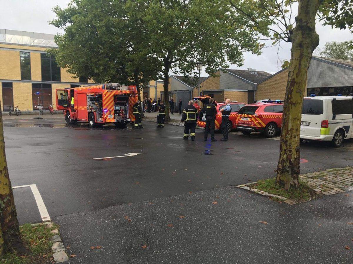 Branden i svømmehallen er slukket. Foto: Presse-fotos.dk