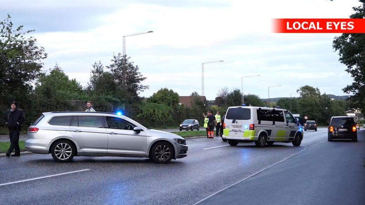 Der er sket en voldsom ulykke. KLIK VIDERE FOR FLERE BILLEDER. Foto: Local Eyes