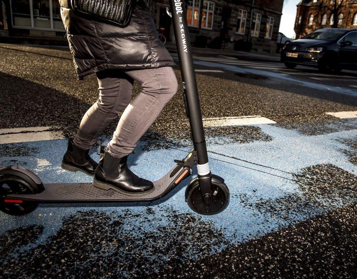 Dermed sagt, at du ikke kunne få lov at vinde retten til at købe en el-løbehjul til 9 kr. Du kunne blive snydt, ku' du. Foto: Scanpix