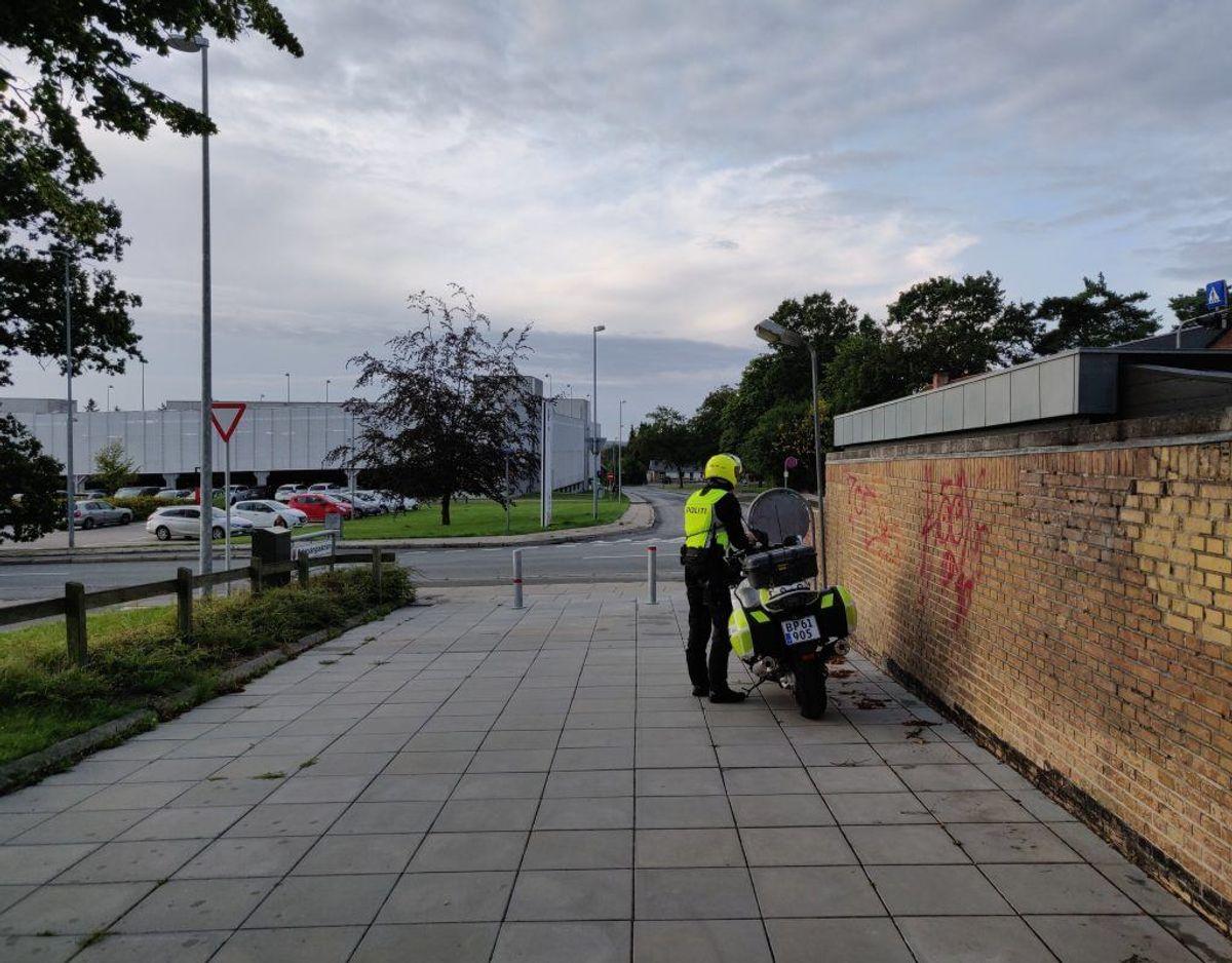 Politiet besøgte Østervangsskolen i Randers 13. august. Newsbreak.dk var med. Foto: Newsbreak.dk