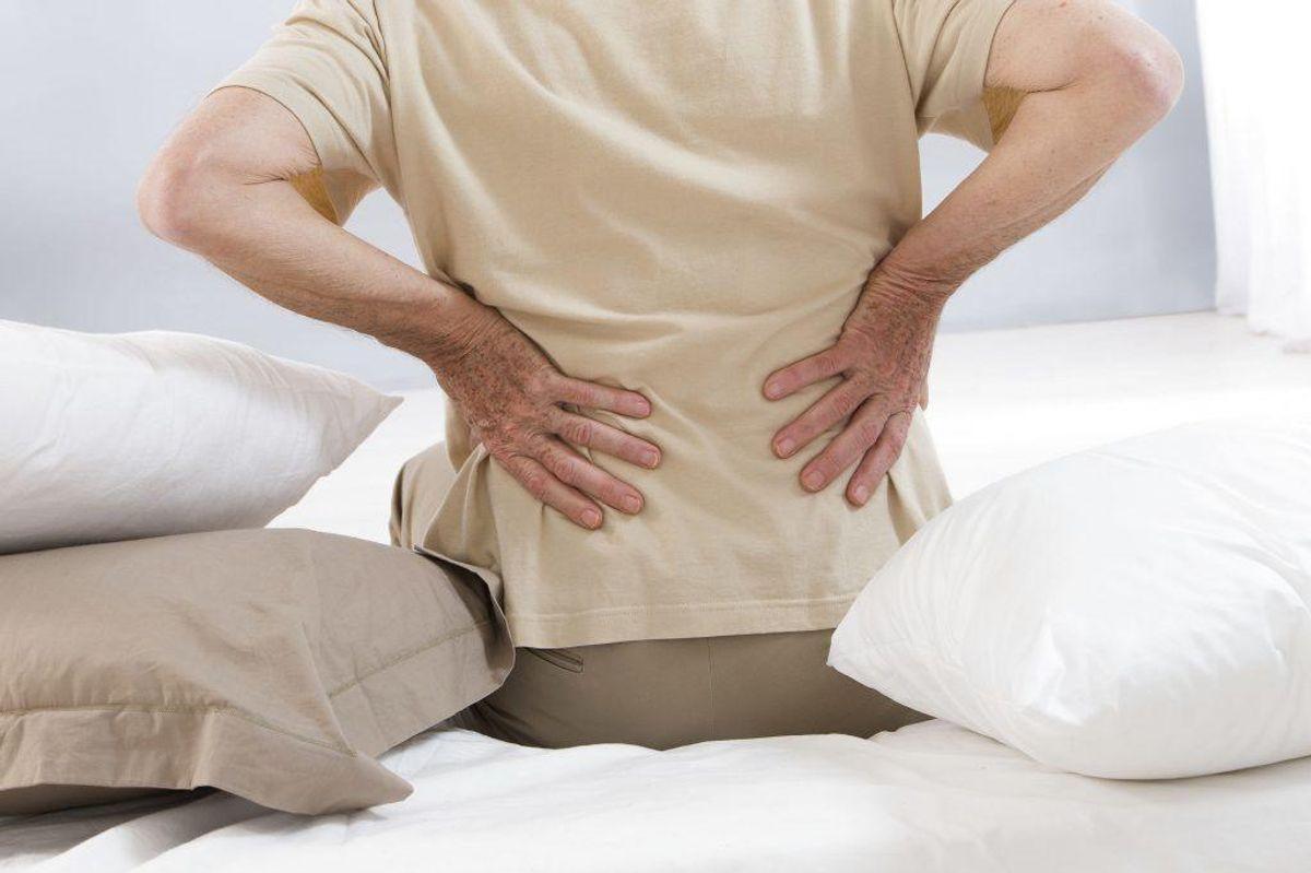 Sygdomme og gener, der rammer led, sener, knogler og muskler kaldes muskel- og skeletsygdomme. Det dækker over helt almindelige rygsmerter til knogleskørhed – og alt derimmellem. I 2000 havde 51% af den danske befolkning over 16 år haft en form for smerter eller ubehag i denne sammenhæng over en 14-dagesperiode. Foto: Scanpix.