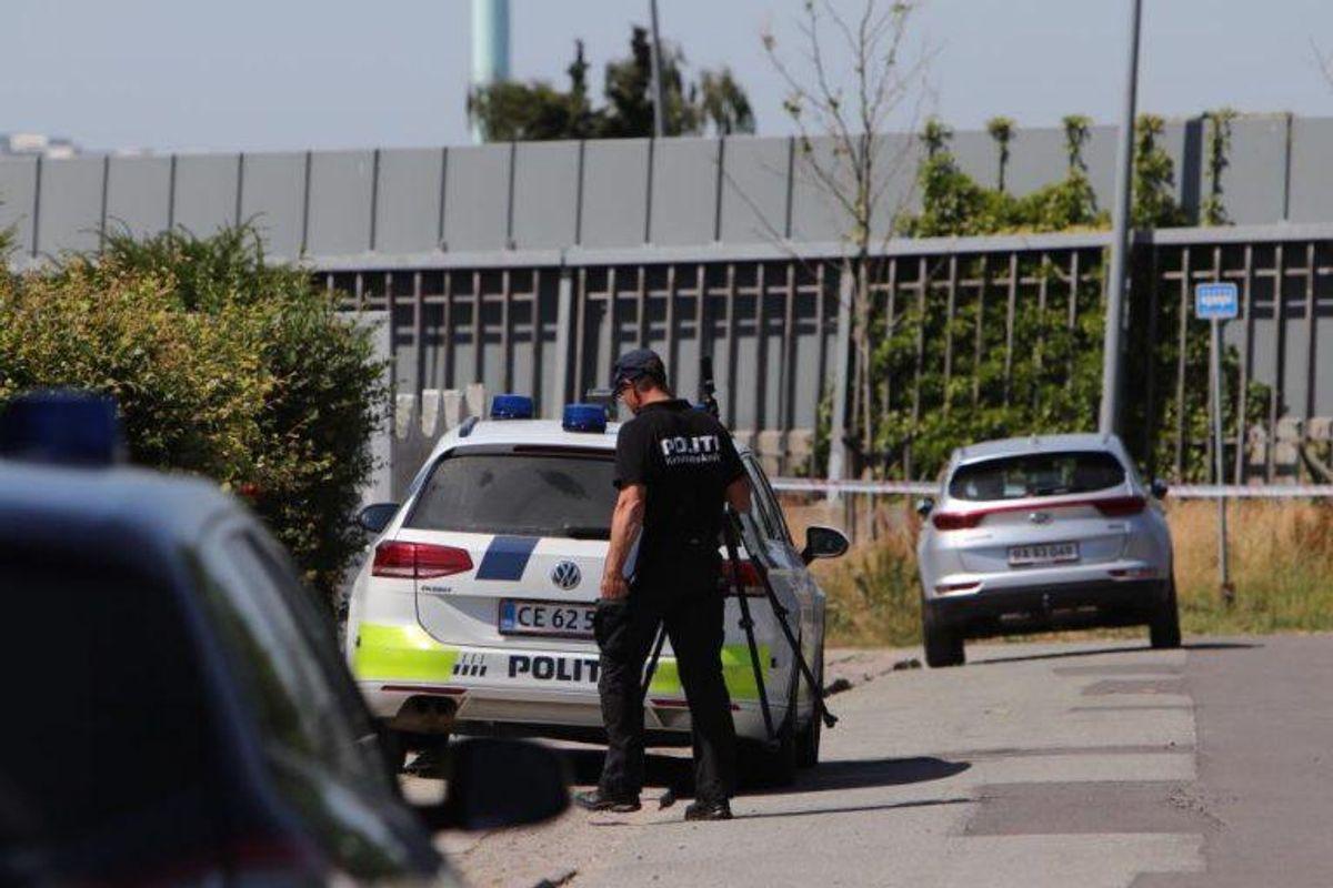 Sådan så der ud i Søborg 30. juni. Nu er en person anholdt. KLIK for flere billeder. Foto: Presse-fotos.dk.