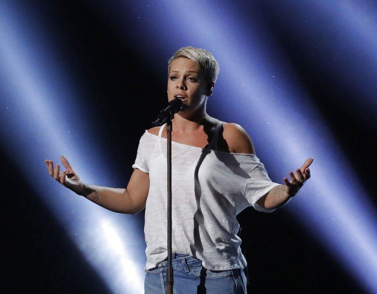 Pink skal efter planen optrøde i Danmark 7. august. Foto: Scanpix/Lucas Jackson KLIK for mere.