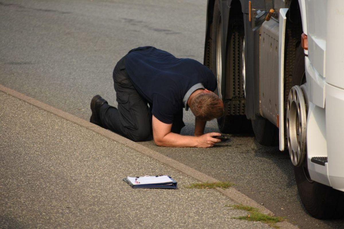 En bilinspektør har undersøgt ulykken. Foto: Øxenholt Foto