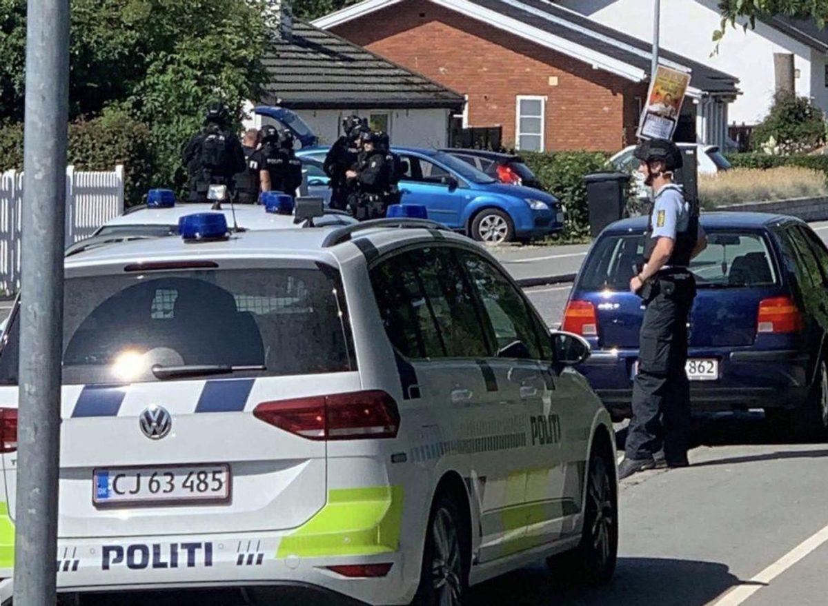Det skete i forbindelse med anholdelsen af en 22-årig. Foto: Presse-fotos.dk