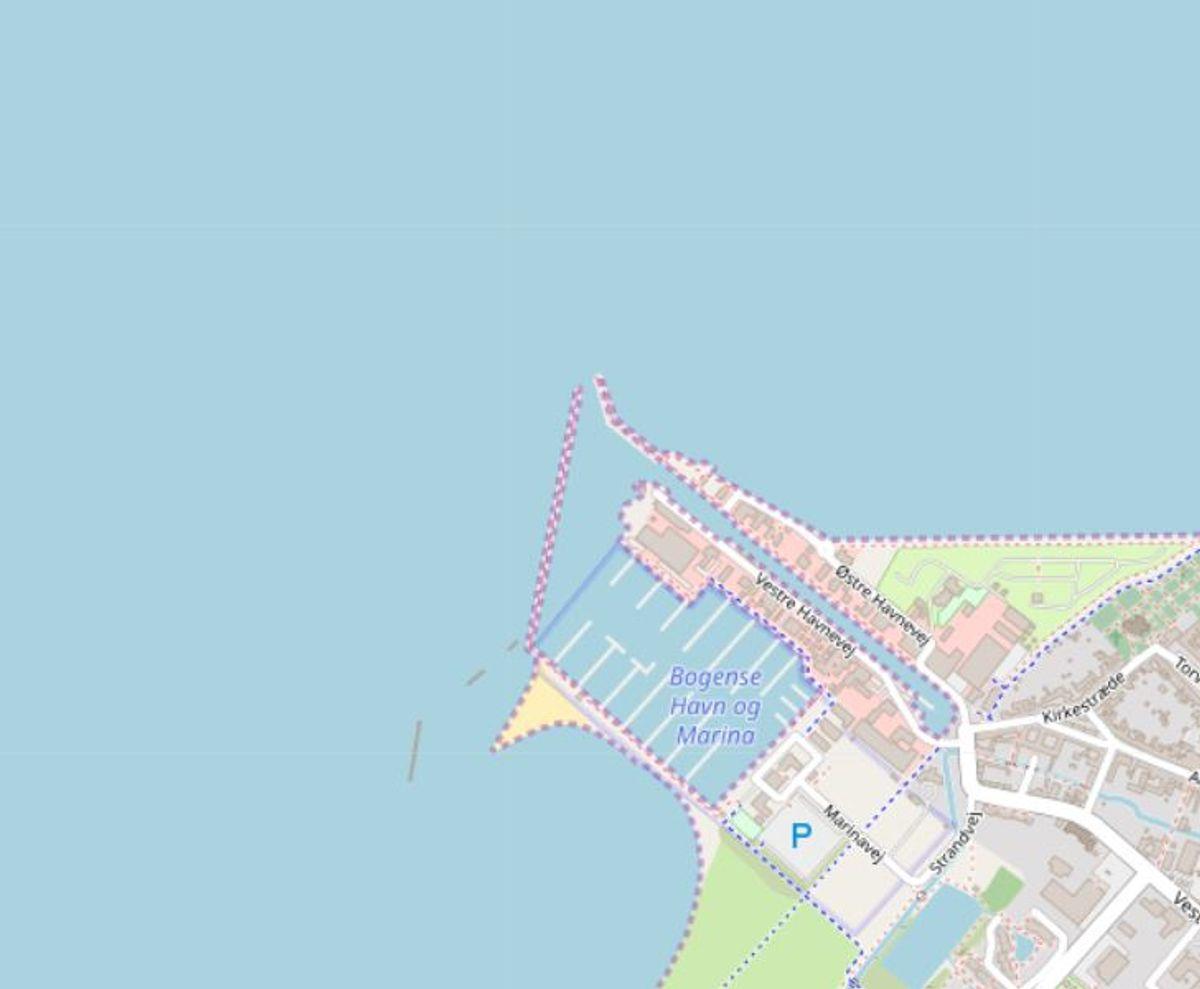 Nordfyns: Bogense Søbad Foto: Openstreetmaps-bidragsydere.