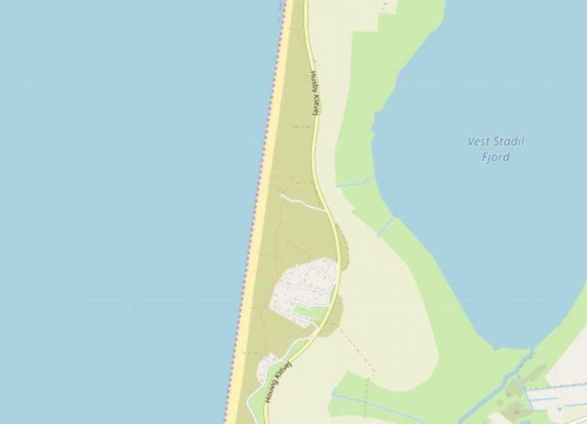 Ringkøbing-Skjern: Sidselbjerg Strand  Foto: Openstreetmaps-bidragsydere.
