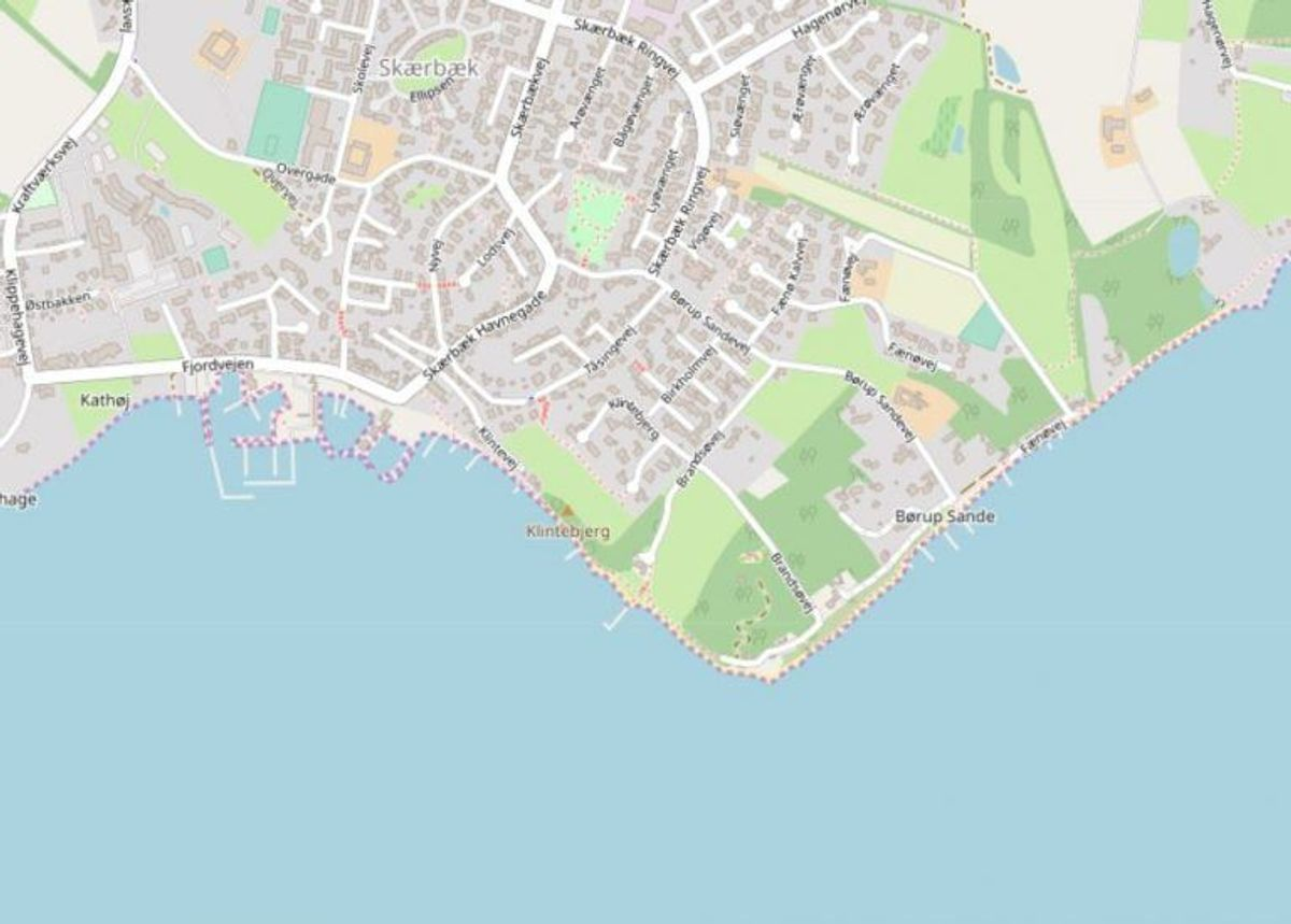 Fredericia: Skærbæk Strandpark  Foto: Openstreetmaps-bidragsydere.