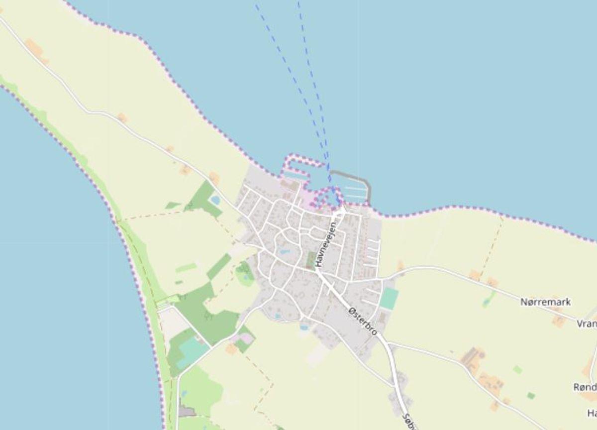 Ærø: Søby Strand Foto: Openstreetmaps-bidragsydere.