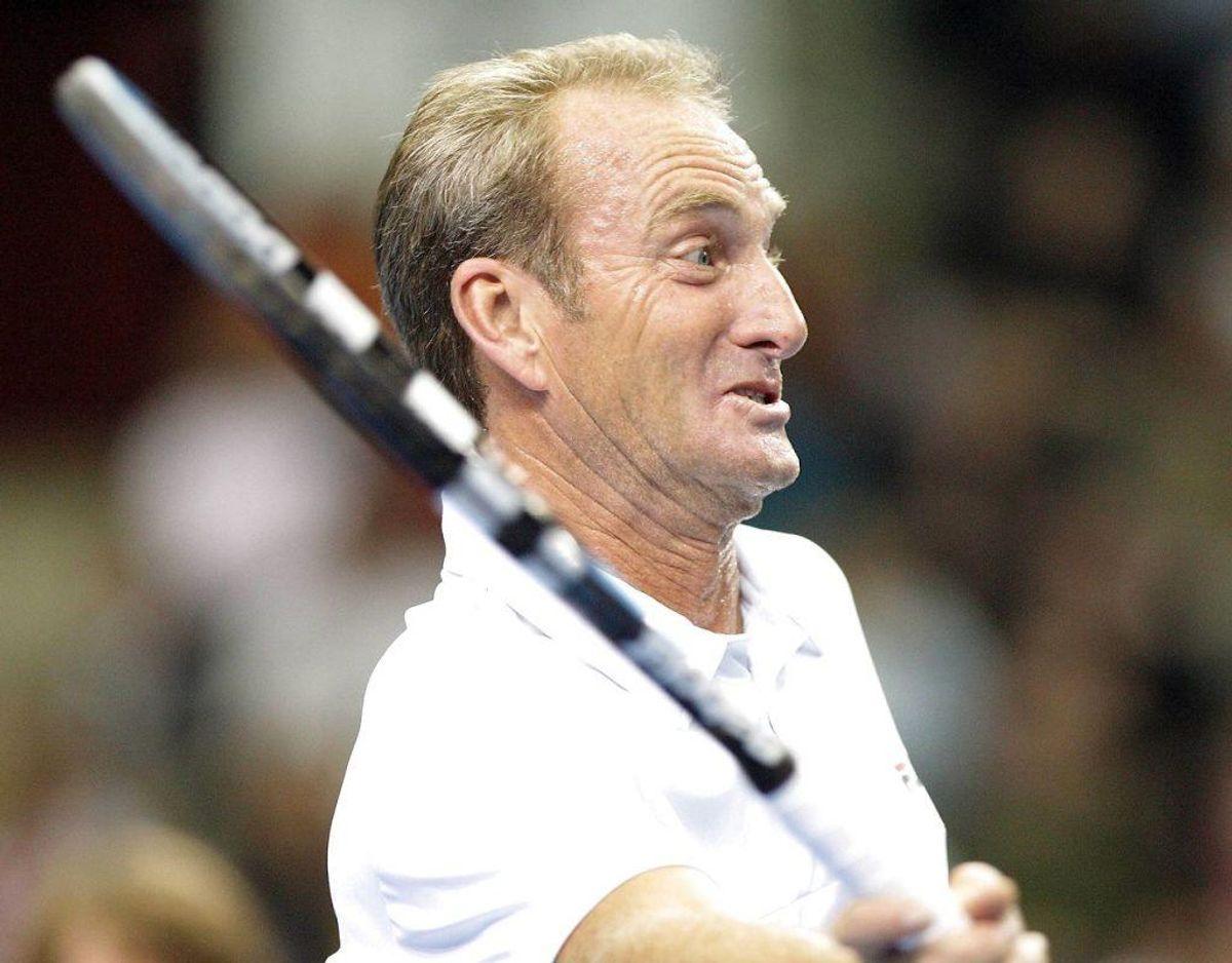Tennis-legenden Peter McNamara døde lørdag nat efter længere tids sygdom. Klik videre for flere billeder.  Foto: Ritzau Scanpix