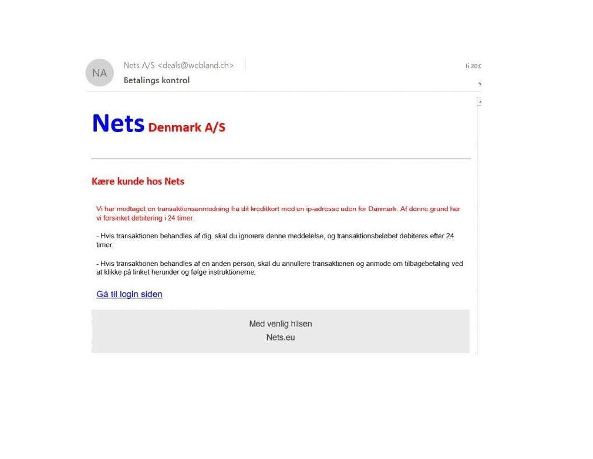 Den ligner ikke helt en troværdig mail. Foto: Screenshot