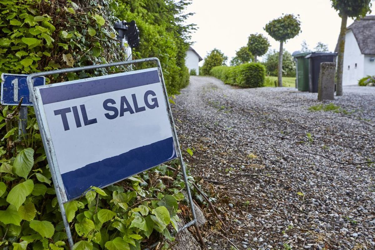 Lejre: Faldet med 4606 kroner per kvadratmeter. Kilde: Ritzau/Boligsiden.dk. Arkivfoto.