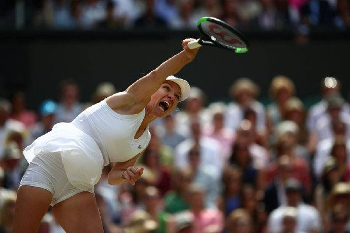 Rumænske Simona Halep var overlegen i lørdagens Wimbledon-finale, hvor hun besejrede Serena Williams på en times tid. Foto: Hannah McKay/Reuters