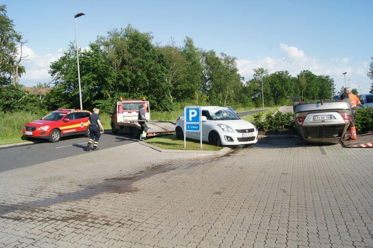 Episoden er fundet sted på parkeringspladsen ved sygehuset i Aabenraa. Foto: Presse-fotos.dk