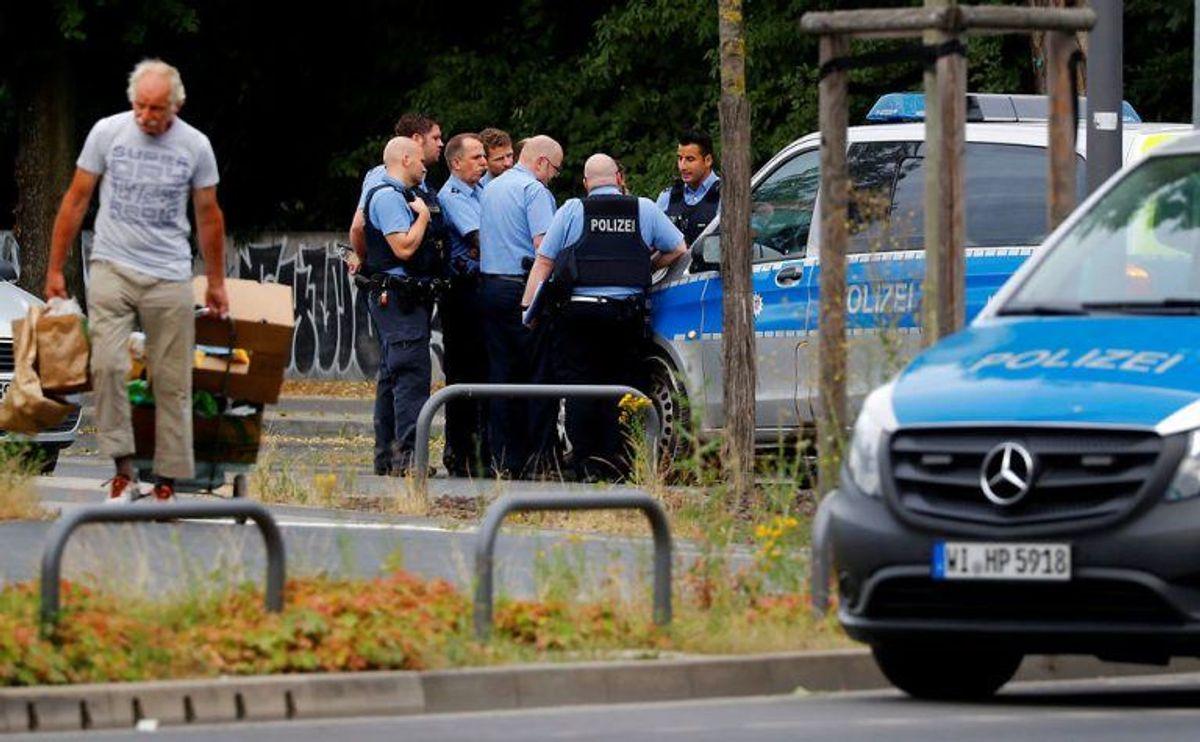Politiet var massivt til stede. Foto: Scanpix