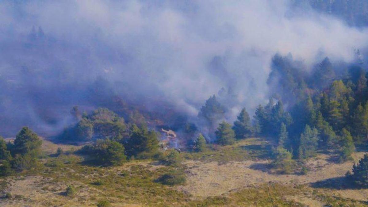 En voldsom naturbrand hærgede søndag i Nordjylland. KLIK FOR FLERE BILLEDER. Foto: Presse-fotos.dk.