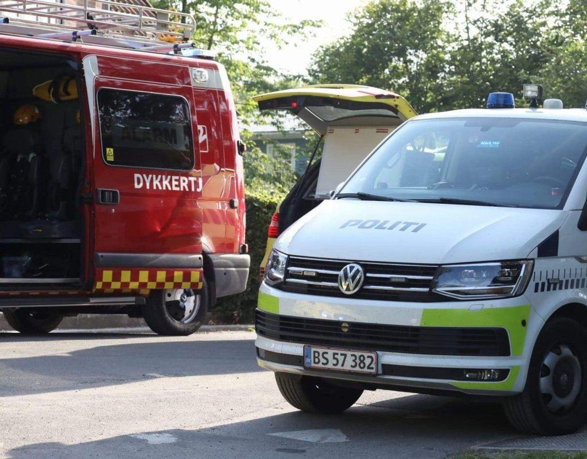 Politi og redning blev tilkaldt tirsdag. Foto: Presse-fotos.dk KLIK for mere.
