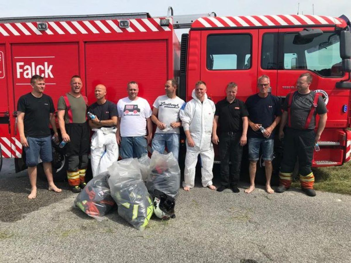 Brand & Redning Sønderjylland har lagt disse billeder op af aktionen. KLIK for flere billeder. Foto: Brand & Redning Sønderjylland.