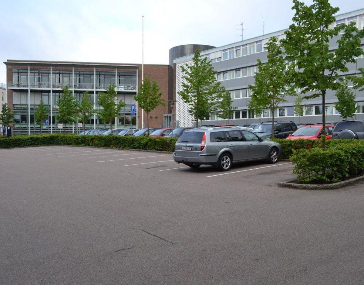 Det er på politistationen i Randers, at de har problemer med strømmen, derfor kan de heller ikke ekspedere borgere på stationen. Foto: Østjyllands Politi