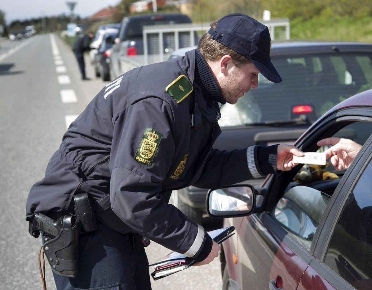 Politiet havde mere end travlt med bødehæftet. Arkivfoto: Scanpix