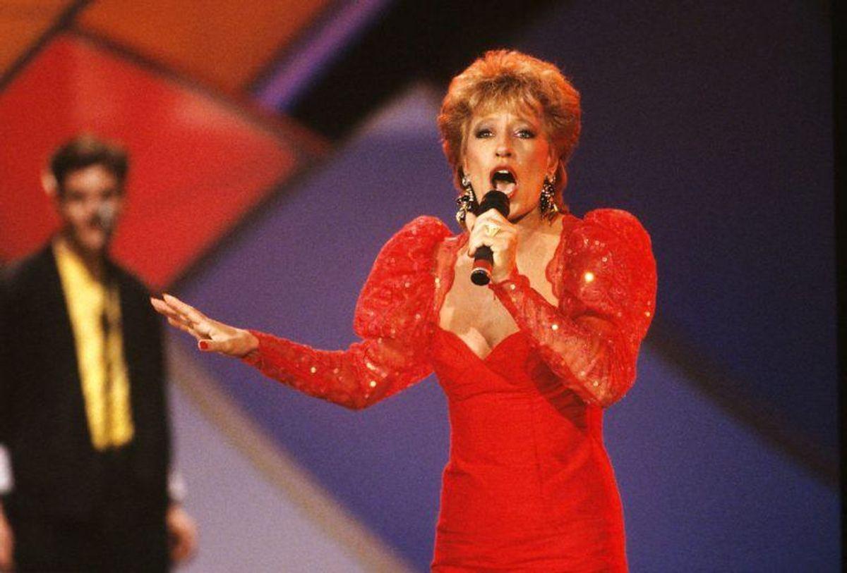 "Birthe Kjær fik også en 3. plads i 1989 med ""Vi maler byen rød"". Foto: Scanpix"