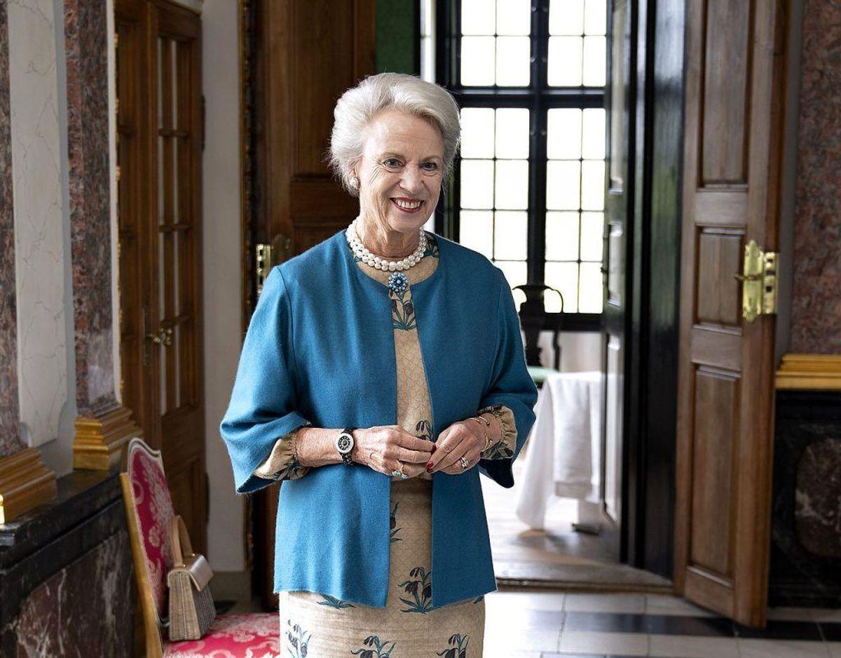 Prinsesse Benedikte, der for nylig fyldte 75, bliver med al sandsynlighed  pålagt en ekstra opgave, når Prins Joachim forlader Danmark. Foto: Scanpix