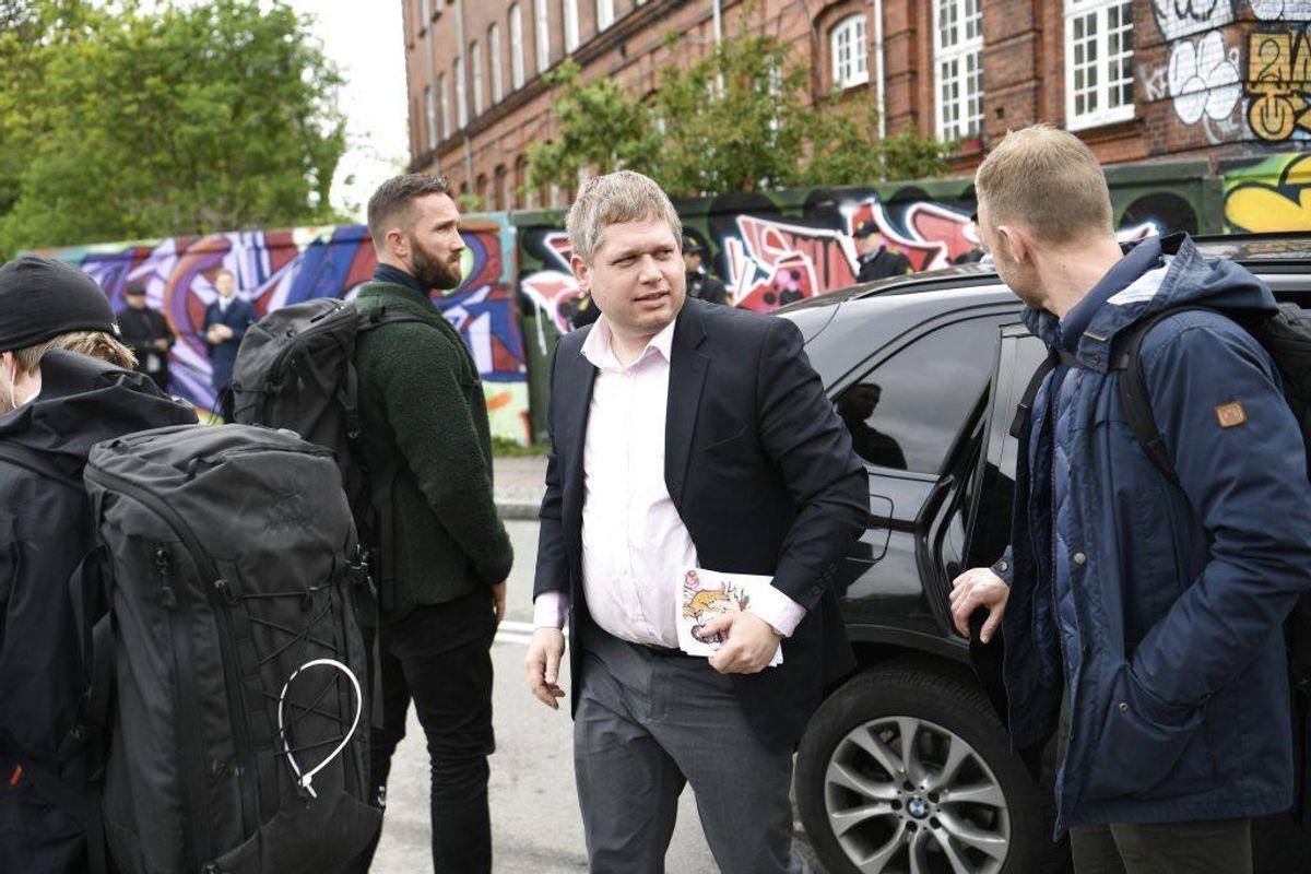 Rasmus Paludan har tidligere modtaget et tilhold for at forfølge og chikanere en medstuderende. Foto: Scanpix.