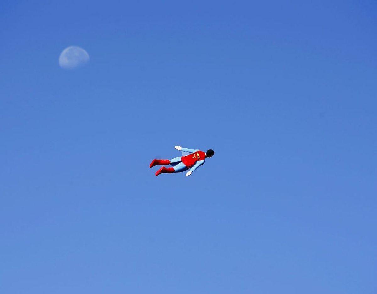 "333.139 konti brugte ""superman"" Foto: Scanpix/Mike Blake."