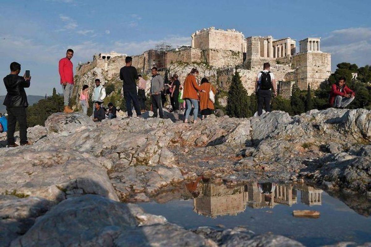 Partenon-templet ligger på en akropolis i Athen. Foto: LOUISA GOULIAMAKI / Scanpix