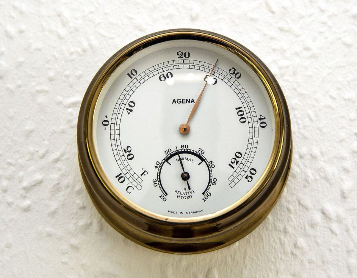 Identificer hvor duggen opstår med et hygrometer og hold øje med luftfugtigheden. Foto: Scanpix